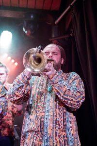 Henry on trumpet in Jamin Jette